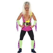 Men's 1990's WWE Retro Wrestler Fancy Dress Costume Stag Do The Rock Pro Fun