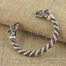 Viking Fox Bracelet Large Metal Silver Viking Arm Ring