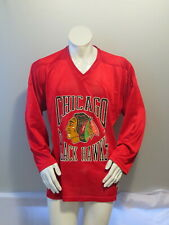 Chicago Blackhawks Jersey (VTG) - Roller Hockey Jersey Ravens Knit - Men's Large