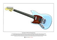 Kurt Cobain's Fender Mustang Custom Limited Edition Fine Art Print A3 size
