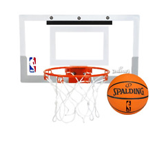 NBA Basketball Slam Jam Over-The-Door Mini Basketball Hoop Backboard System, New