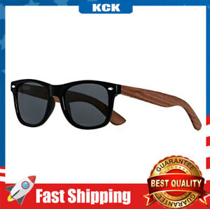 Men Women Wood Sunglasses Uv Protection Wooden Bamboo Frame Mirrored