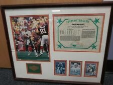 Miami Dolphins Team NFL Dan Marino Framed Photo, Stats, Cards