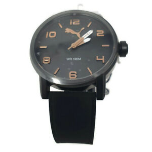 PUMA Alternative Men's Watch Black Dial and Black Silicone Strap PU104141007