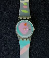 Swatch Watch 1987 Luna di Capri  Abstract VINTAGE New Battery, Accurate Time