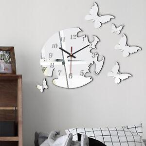 WENKO Wandtattoo Wanduhr WandstickerStanduhr mit echtem UhrwerkWand-Dekor