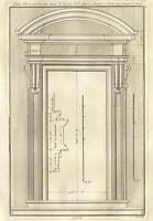 Porte Basilique Sainte Marie Majeure Rome  Architecture Dumont Gravure Folio 18e