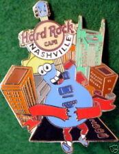 Hard Rock Cafe NASHVILLE 2008 Music City Marathon PIN Animated Guitar HRC #44513