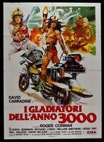 Manifesto I Gladiadores Dell' Año 3000 Roger Corman Carradine Moto Sci-Fi M68