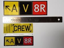"Crew Luggage Tag and Bumper Sticker COMBO! AV8R ""Aviator"" Taxiway Sign Crew Tags"