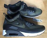 Nike Air Max 90 Ultra Mid Winter 924458 300 Sequoia Medium Olve Black Men's DS
