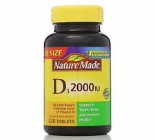 Nature Made D3 2000 IU Tablets 220 ea