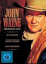 JOHN WAYNE MEMORIAL BOX: DER MARSHALL/SÖHNE DER KATIE ELDER/EL DORADO 3 DVD NEU