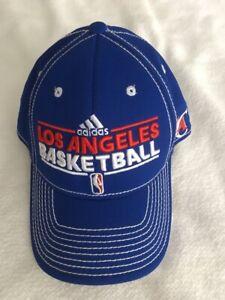 LA CLIPPERS ADIDAS HAT BASKETBALL NBA FLEX FIT SIZE S/M BLUE CAP