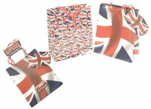 Union Jack Medium Gift Bags 3 Pack Party UK GB British Flag