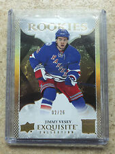 16-17 UD Exquisite Collection True Rookies RC #R-28 JIMMY VESEY /26