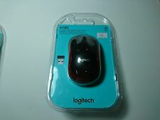 Logitech M185 Wireless Optical Mouse for PC & Laptop MAC Linux Blk/Red Brand New
