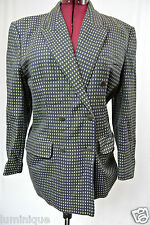*MONDI* Pure Wool Double Breasted Quality Coat Size EU 42 AU 14 16 L XL Vintage