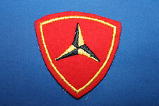 Original Early WW2 Felt USMC (Marine Corps) 3rd Marine Division Uniform Patch