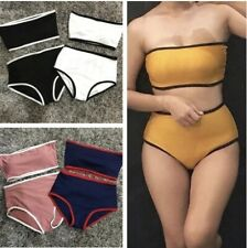 Korean Combi Tube Two Piece Women Swimsuit Swim Wear