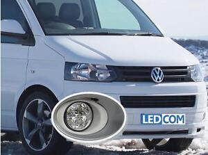 LED Day Running Lights Kit DRL VW Volkswagen T5 Transporter 2010 on To Paint