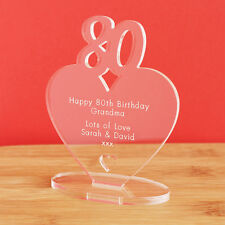 80th Birthday Personalised Milestone Heart Keepsake Gift Idea for HIM OR HER!