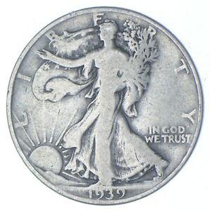 1939-D Walking Liberty 90% Silver US Half Dollar *972