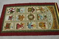 "24"" x 42"", 12 Days of Christmas Quilt/Wall Cotton Panel/Benartex/Halvorsen,P4755"