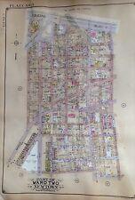 ORIGINAL 1929 E. BELCHER HYDE ATLAS MAP WOODSIDE QUEENS NEW YORK 20 X 27.5