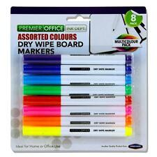 DRY WIPE WHITEBOARD MARKERS  ASSORTED OFFICE/SCHOOL/TEACHER PENS 8 IN PACK