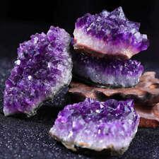 Natural Rock Quartz Crystal Amethyst Cluster Druzy Geode Specimen Healing Reiki