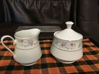 Dynasty Fine China 2002 Rapture Creamer And Covered Sugar Bowl Set