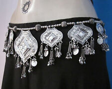BELT Tribal Belly dance Medallion Coin Chain Tassels Costume Outfit Hip Jewelry