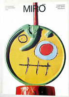 (PRL) POSTER D' EPOCA JOAN MIRò VINTAGE AFFICHE ORIGINAL ART PRINT 1986 61 x 86