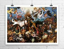Fall Of The Rebel Angels 1562 Pieter Bruegel Rolled Canvas Giclee 32x24 in.