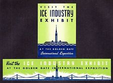 "US 1939-40 San Francisco Expo ""Ice Industry"" Poster Stamps lot of 2 OG H appr"