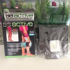 Unisex Black BeActive Knee Brace Leg Back Pain Be Active Pressure Point Wrap T