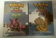 Pokémon Aquapolis Preconstructed Theme Deck SET Rock Garden / Abyss Sealed