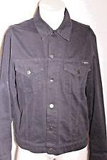 Vintage Iceberg Ice Jeans Black Denim Jean Button L/S Jacket Sz. 52 Large Jay-Z