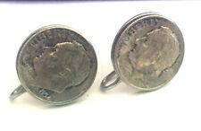 1954 90% Silver Roosevelt Dime US Coin screw back earrings