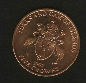 TURKES  AND CAICOS ISLAND  5 CROWNS 1997