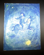 Marc Chagall, Lithograph, with a figure on horseback, 1959. Hand SIgned with COA