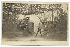 MILITARY - W.W.1 - FIRING A HEAVY HOWITZER in FRANCE Daily Mail Postcard