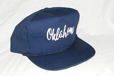 Vintage 1990s OKLAHOMA Trucker Snapback Hat Cap Yupoong Rope Band