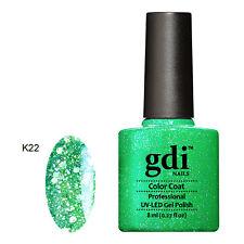 UK SELLER Gdi Nails DIAMOND K22 Emerald Green GLITTERS UV/LED Soak Off GEL
