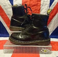 Vintage England*1460*Classic Black Leather Dr Doc Martens*Skingirl Goth Punk*UK6