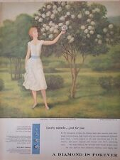 1958 A Diamond Is Forever Lovely Miracle Painting Robert Grilley Original Ad