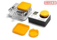 Protezione lenti F. GoPro HD HERO 3+ ACCESSORI LENS CAP Protector Copertura Arancione