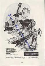 BAD OEYNHAUSEN, Werbung 1958, Weserhütte Otto Wolff GmbH Großtransportanlagen