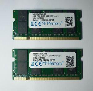 RAM Memory 200Pin DDR2 SoDimm 1.8v PC2-6400 800Mhz 2x4GB Mr memory 8GB 2XR8